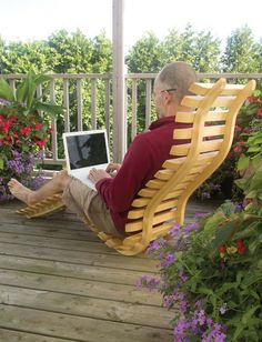 This is a neat project! See how he built a bent laminate deck chair.
