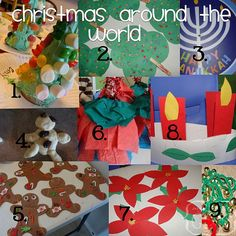 christmas around the world crafts for kids - Christmas Around The World Decorations