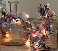 Diy vasos iluminados