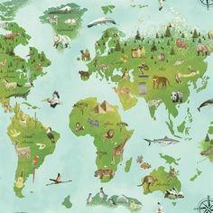 Zoomie Kids North Adams Animal Tracks L x W Wallpaper Roll Color: Light Blue/Light Green Nursery Wallpaper, Kids Wallpaper, Animal Wallpaper, Colorful Wallpaper, Wallpaper Roll, Embossed Wallpaper, Brick Wallpaper, Wallpaper Panels, Pattern Wallpaper