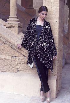 Threads and Motifs, Velvet Capsule Collection Winter Collection Velvet Dresses Winter Dresses Pakistani Dresses Party Wear 2016 Pakistani Bridal Couture, Cape Designs, Eastern Dresses, Pakistani Outfits, Winter Dresses, Winter Collection, Asian Fashion, Party Wear, Fashion News