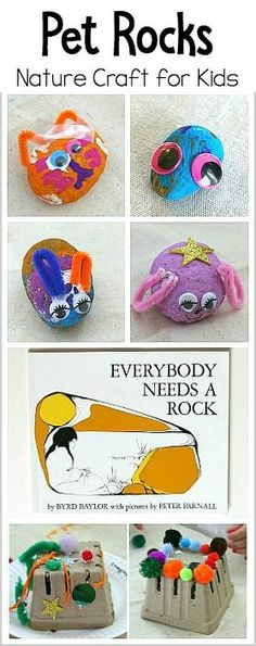 Pet Rocks (and Pet Rock Houses)- Search for rocks or stones on your next outdoor walk and create this fun pet rock nature craft for Kids.