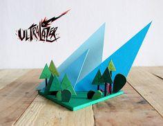 Ultralazer est un projet réalisé à partir de papier par Pauline Giraud et Maxence Henry.