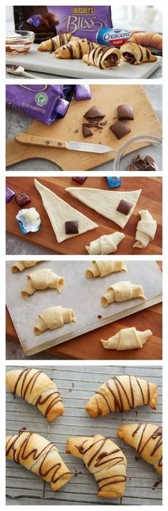 Chocolate Filled Crescents Rolls