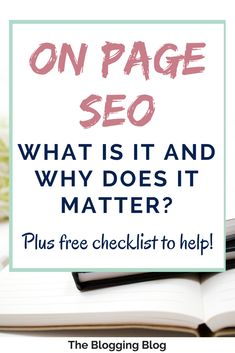 On-page SEO is about getting those search engines to notice your page by putting all the right signposts in place - but what are those indicators? Seo Marketing, Online Marketing, Content Marketing, Media Marketing, Digital Marketing, Learn Wordpress, Seo Basics, What Is Seo, Seo For Beginners