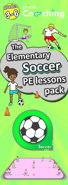 Soccer games for kids - PE lessons, drills, skills and plans (grades Soccer Games For Kids, Soccer Practice, Soccer Tips, Pe Games, Pe Lessons, Best Football Players, Kids Football, Football Drills, Soccer Training