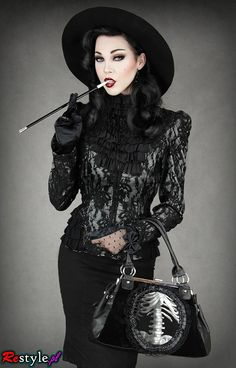 Dark clothes, punk shirts, gothic jewelry from Restyle.pl | Offbeat Home
