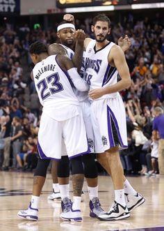 Sacramento Kings Ben McLemore, DeMarcus Cousins, Omri Casspi