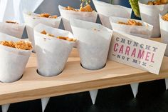 DIY food cones with wax paper.  Inexpensive, disposable idea for a backyard picnic, tailgating, etc.