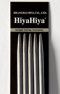 Love HiyaHiya brand knitting needles. My absolute favourite and I will never go back!