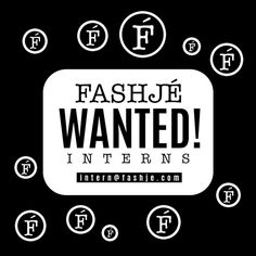 Love Fashion and Marketing? Fashjé is looking for interns in NYC and Miami. Please send your resume and cover letter to intern@fashje.com #nyc #miami #fashion #intern