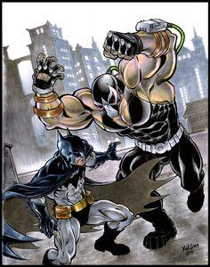 Batman vs. Bane by Brad Green