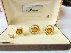 Vintage Cufflinks Anson Enamel Owls Cufflinks & by vintagelady7