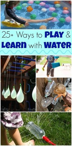 25 funnest diy Water activities and games for kids! Sensory Activities, Toddler Activities, Outdoor Activities, Outdoor Games, Family Activities, Summer Crafts, Crafts For Kids, Projects For Kids, Cool Baby