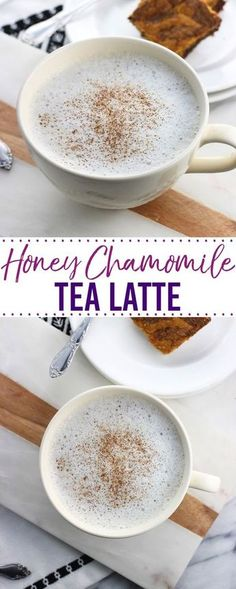 This easy honey chamomile tea latte is a soothing and warm drink sweetened with just a touch of honey. So much cheaper to make at home than buying in a coffee shop!