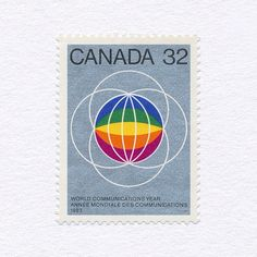 World Communications Year (32c). Canada, 1983. Design: Raymond Bellemare. #mnh #graphilately