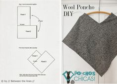 poncho made from a thick woven wool that I foun.This is probably the easiest poncho you'll ever make that you'll actually wear more than once. It's made from a thick woven wool that I foun…Examine our wide selection of females' shirt including puf Poncho Pattern Sewing, Knitting Patterns, Sewing Patterns, Poncho Patterns, Crochet Patterns, Poncho Crochet, Knitted Poncho, Sewing Clothes, Diy Clothes