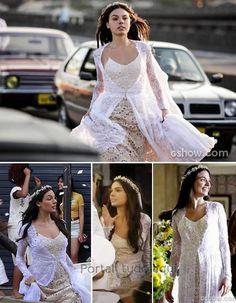 Linda!! O Vestido de Noiva de Sandra, Isis Valverde, na Novela Boogie Oogie.
