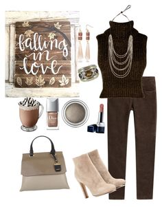 """The Browns Have it☕"" by parnett ❤ liked on Polyvore featuring Closed, Boohoo, Gianvito Rossi, DKNY, New Directions, David Yurman and Christian Dior"