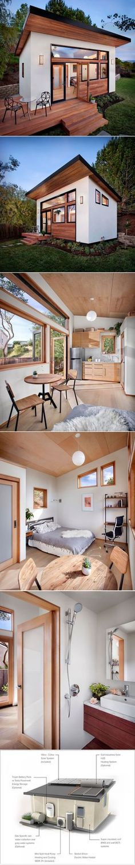 Pequena casa de visitas no quintal