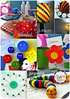 ► IDEAS para reciclar Tapitas de plástico !!! <3
