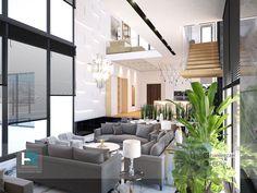 villa modern interior design living room area