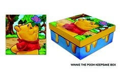 Winnie the Pooh Pin Box I painted to help store all my Disney pins I collected.