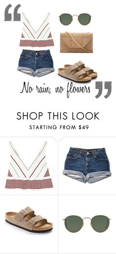 """""""No rain..."""" by alex-hllnz on Polyvore featuring moda, Elizabeth and James, Birkenstock, Ray-Ban y Yves Saint Laurent"""