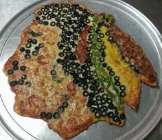Check out this Chicago Blackhawks Pizza!!!