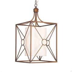 Josie Antique Copper Iron Chandelier with Fabric Shade- Would be BEAUTIFUL over an island on sale for $109
