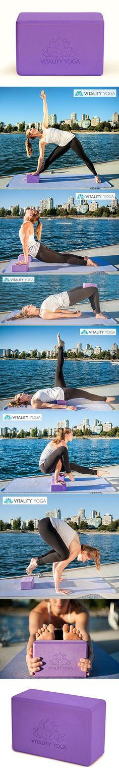 YOGA BLOCK: Eco-Friendly Firm Foam   Xtra-Dense duraBlock 60   Purple 4x6x9   Premium Quality, Stylish & Functional   Vitality Yoga