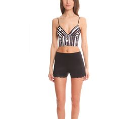 Clover Canyon Neoprene Crop Top ($185) ❤ liked on Polyvore