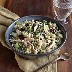 Chicken and Edamame Couscous Salad Recipe   MyRecipes.com #myplate #fruit #protein #veggies #wholegrain
