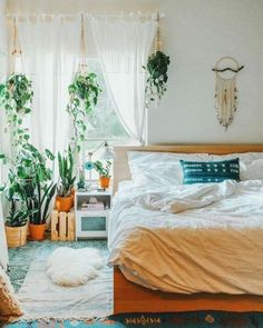 50 what you don't know about boho hippy bedroom room ideas cozy might shock you 24 Room Ideas Bedroom, Bedroom Decor, Bedroom Designs, Bedroom Images, Bedroom Plants, Modern Bedroom, Black Bedrooms, Teenage Bedrooms, Gothic Bedroom