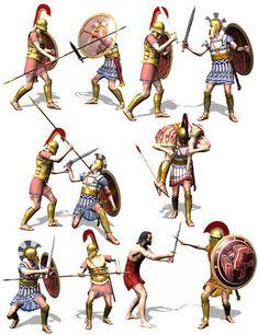 Ancient Greek Army Weapons | Greek sword fighting guide | use of greek swords