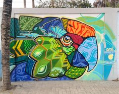 "Farid Rueda - ""HEALING WALLS AFTER EARTHQUAKE"" in Canoa, Ecuador Street Wall Art, Urban Street Art, Murals Street Art, Street Art Graffiti, Polygon Art, Zentangle, Amazing Street Art, Garage Art, Mural Wall Art"