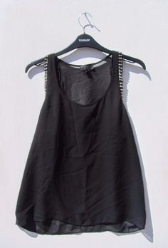 1b12057a03 topshop size 6 black silver stud cami top net R261 #fashion #clothes #shoes  #accessories #womensclothing #topsshirts (ebay link)