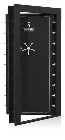 "The Browning Clamshell Vault Door - In-Swing x is in stock with Black Gloss and Black Chrome Hardware. The Browning Vault Door is the perfect solution for the person who has ""more than a few guns"" in their collection. Weapon Storage, Gun Storage, Locker Storage, Gun Safe Room, Reloading Room, Safe Door, Safe Vault, Gun Vault, Panic Rooms"