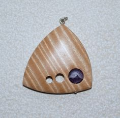 Maple and amethyst pendent