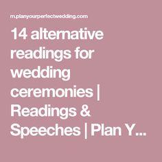 14 alternative readings for wedding ceremonies | Readings & Speeches | Plan Your Perfect Wedding