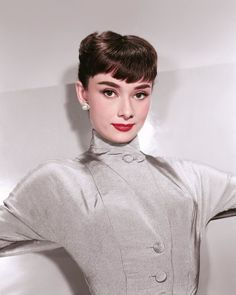 Audrey Hepburn in a promotional shot by Bud Fraker at Paramount Studios in 1953.