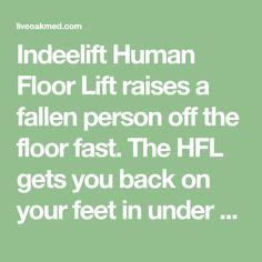 Indeelift Human Floor Lift raises a fallen person off the floor fast. The HFL gets you back on your feet in under a minute. Planning to age in place? Have a plan and be prepared for future falls. Get up off the floor without any help. Easy to use and very easy to maintain. Save $150 Today. Handicap Bathroom, Aging In Place, Long Time Ago, Innovation Design, You Got This, First Love, How To Remove, Positivity, Age
