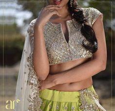 Anushree reddy # hand crafted lehenga # Indian bride