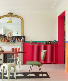 If you have a radiator, revamp it with bright paint to change the look of your room. #PopItWithColour