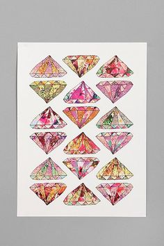 on my top 10 #urbanoutfitters list: Bianca Green For Society6 These Diamonds Are Forever Print