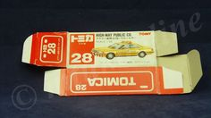 TOMICA 028F TOYOTA CROWN HIGHWAY | 1/63 | ORIGINAL BOX ONLY | 1988-1993 JAPAN