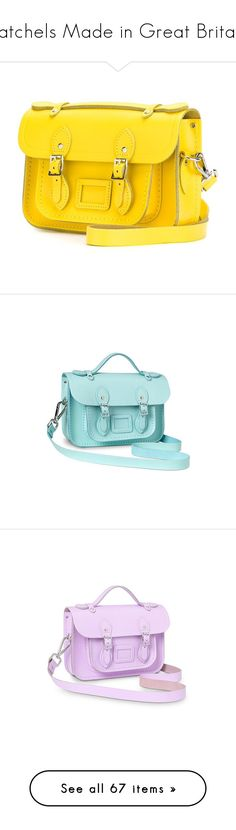 """""""Satchels Made in Great Britain"""" by wishlist123 ❤ liked on Polyvore featuring cambridgesatchel, satchels, greatbritain, leathersatchel, bags, handbags, mini satchel handbags, handbag satchel, genuine leather handbags and satchel purses"""