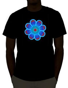 Emazing Lights Daisy Sound Activated Light Up Rave Shirt (Medium) Rave Shirts, Mens Tee Shirts, Heated Shirt, Rave Wear, Mens Clothing Styles, Men's Clothing, Branded T Shirts, Fashion Prints, Daisy