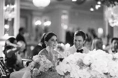 Blogger Lainy Hedaya of Haute Inhabit NYC Wedding, Couple During Recepiton
