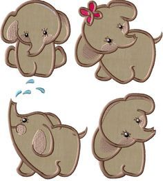 APPLIQUE PATTERNS FOR ELEPHANTS | APPLIQ PATTERNS
